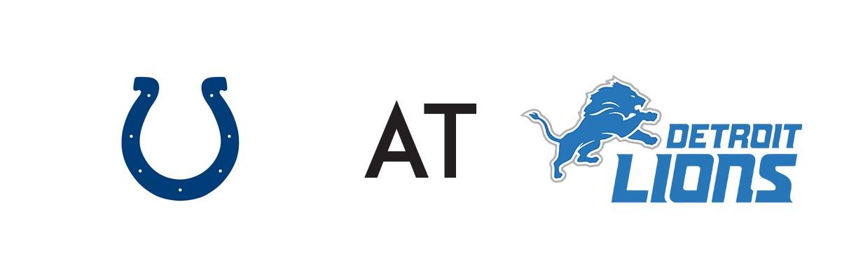 Indianapolis Colts at Detroit - Team Logos