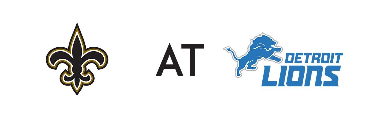 New Orleans Saints at Detroit - Team Logos